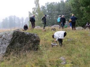 Utforskning av spännande gräsmarker i Elingbo, 20/9 2014. Foto: Tom Sävström