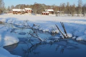Vy över Usträngsbo, 23/1 2015. Foto: Tom Sävström